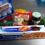 Pizza kit is een snelle pizza met een beetje hulp