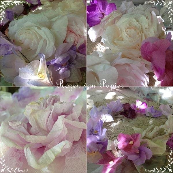 workshop papieren rozen en viooltjes van papier 1