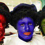 Zwarte Piet en Kleuren Piet tijdens Sinterklaasfeest