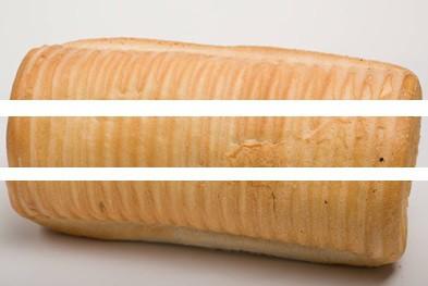 brood overlangs doormidden snijden in drie delen 1
