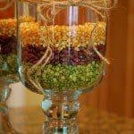 glazen jampot met gedroogde peulvruchten als decoratie 1