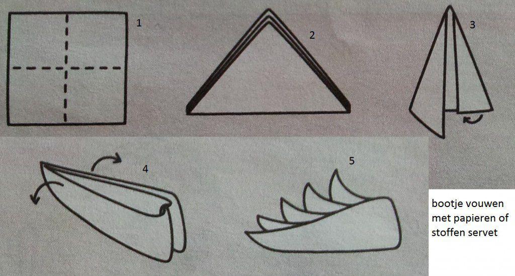 hoe bootje vouwen met servet