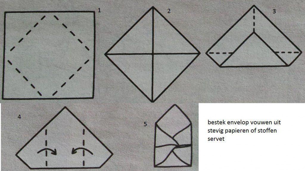 hoe envelop vouwen met servet