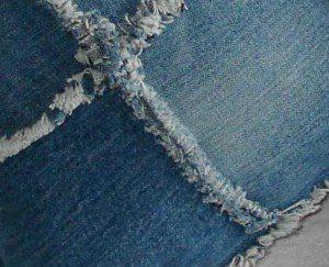 kussenhoes van jeans stof denim spijkergoed maken 1
