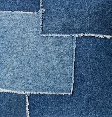 kussenhoes van jeans stof denim spijkergoed maken