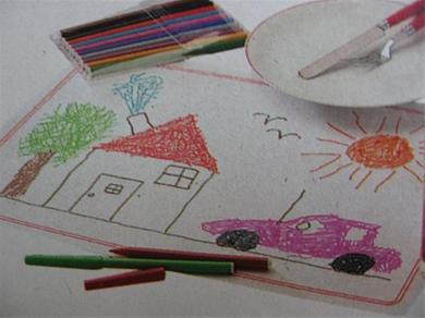 placemat tekenen en versieren