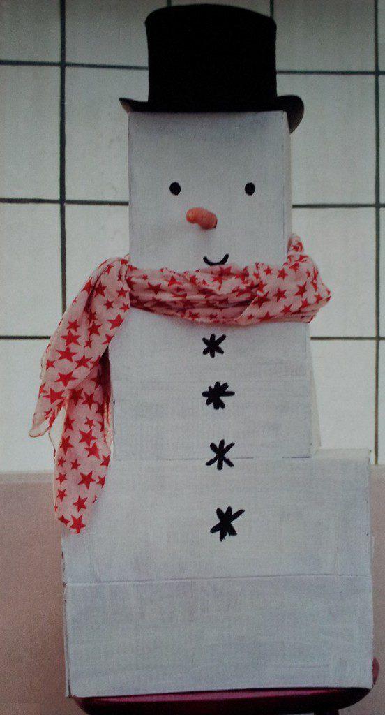 sneeuwpop maken zonder sneeuw ook als sinterklaas surprise