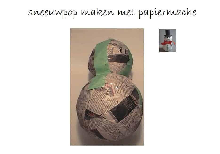 sneeuwpop-maken-van-papiermache