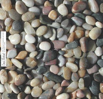 wandbord met kiezelstenen is een steenschilderij hobby