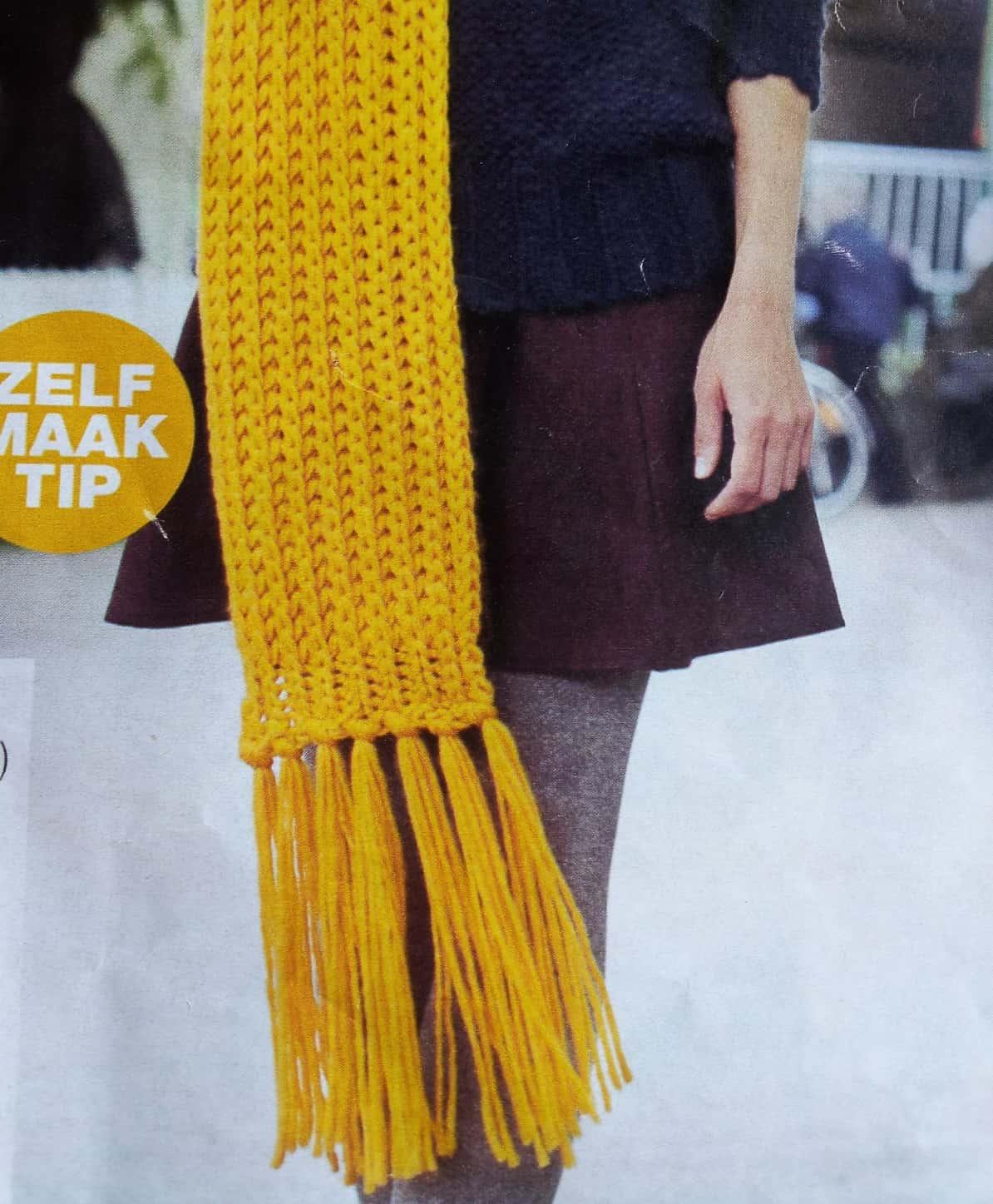 Sjaal breien hoeveel steken