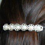 Haarspeld maken met zoetwaterparels en lijm