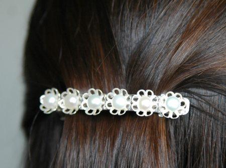 Haarspeld maken met zoetwaterparels