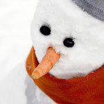 Kleurplaten sneeuwpop