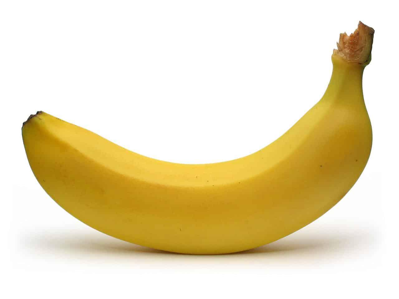 banaan met tekst prikken
