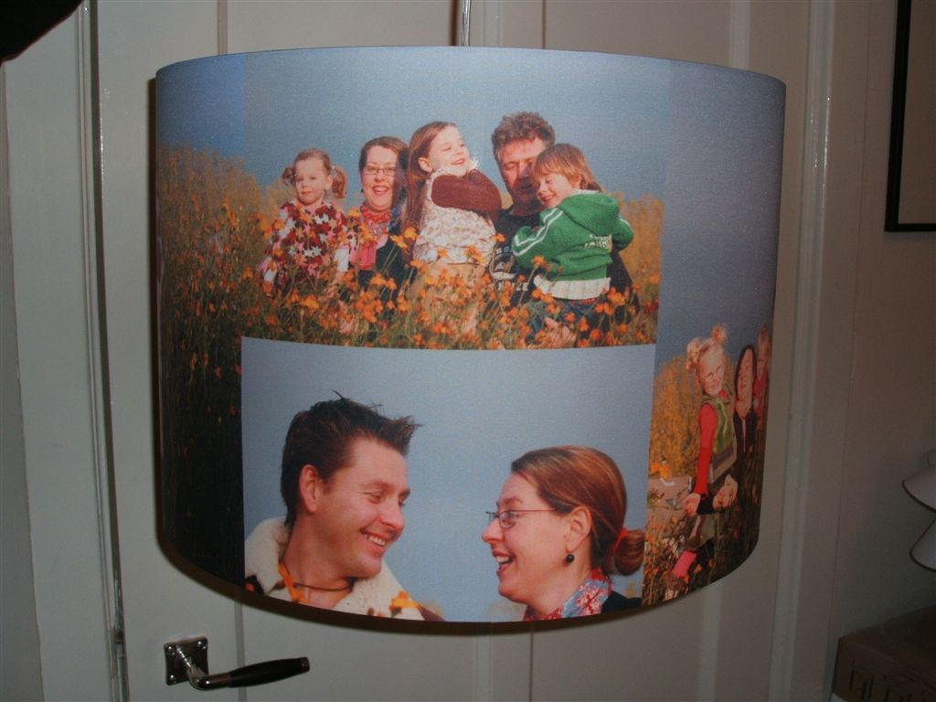 eigen foto op lampenkap en meer