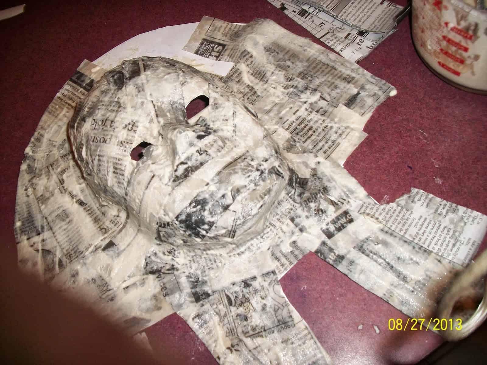 Inspiratie voor groot masker van papiermache