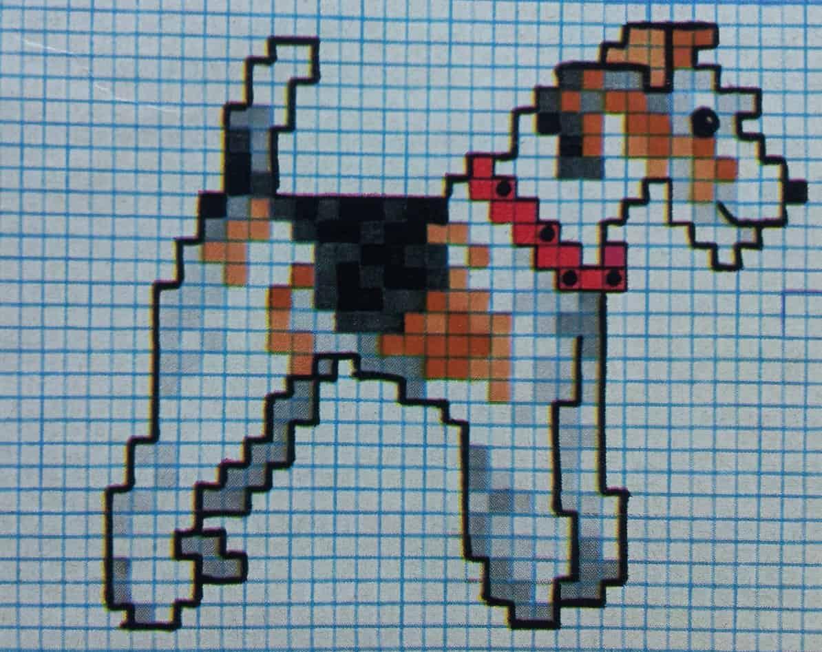 borduurpatroon kruissteek hond fox terrier