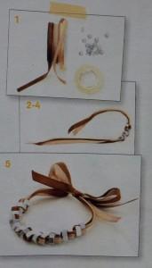 hoe armband maken met lint en moeren