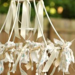 Lampenkap frame nieuwe look geven met repen kant en lint