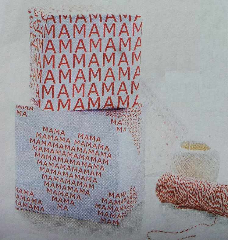 Inpakpapier printen voor kleine cadeautjes
