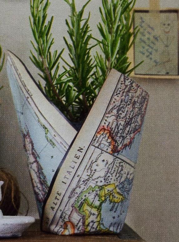 Creatief met oude wegenkaarten en landkaarten