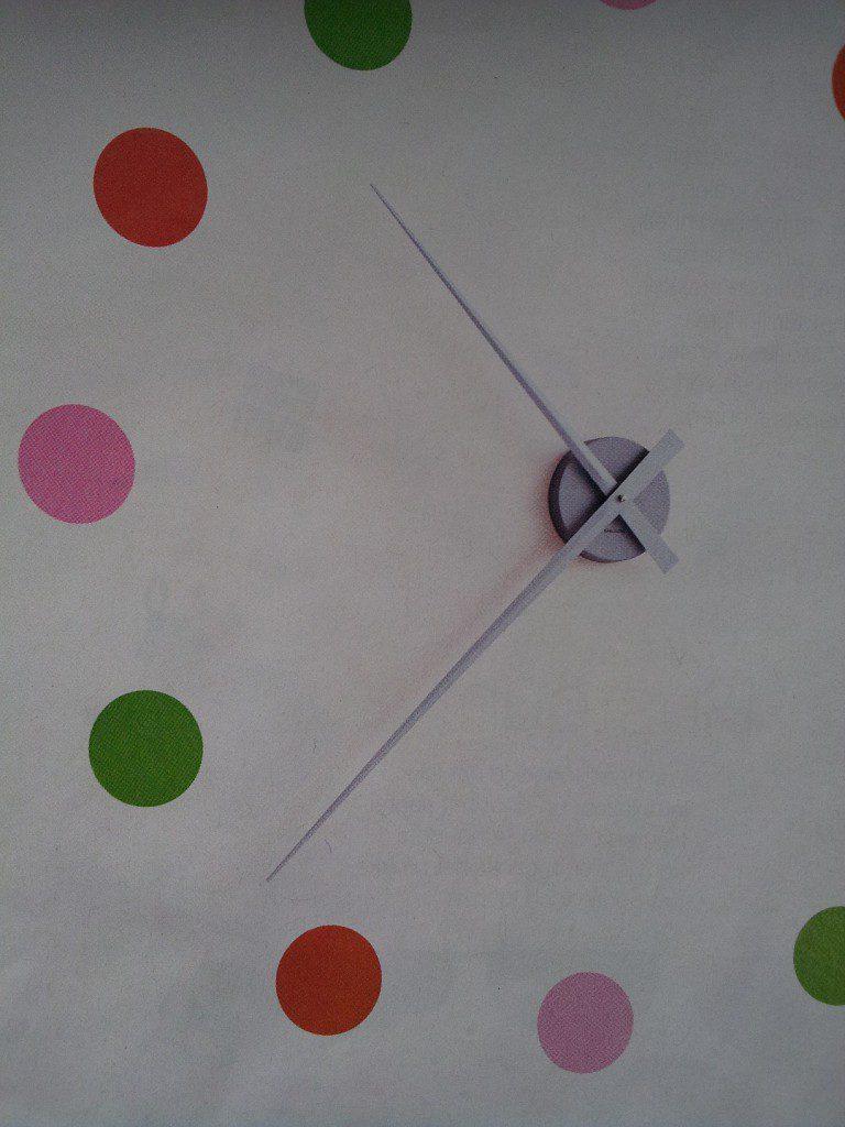 Klok op muur schilderen en een wijzerklok