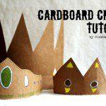 Kroon knutselen uit kartonnen doos