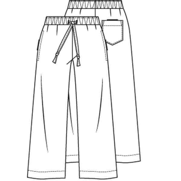 patroon harembroek rechte broek