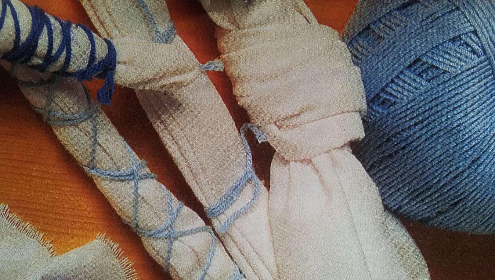 Afbinden van stof en verven met textielverf
