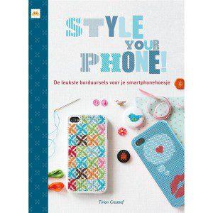 boek patronen iphone hoes borduren