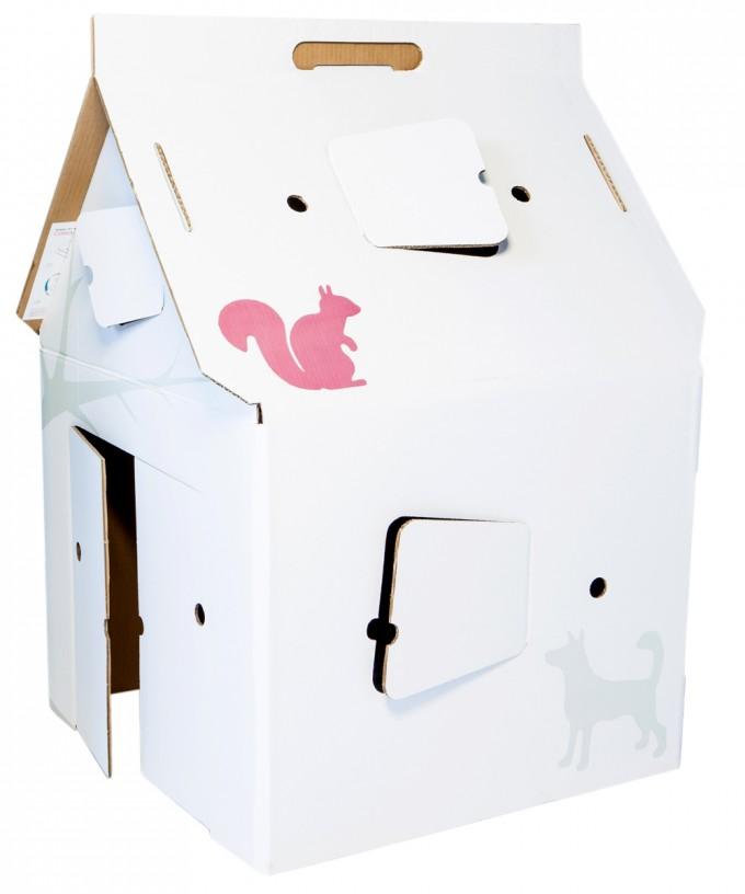 bouwpakket huis van karton