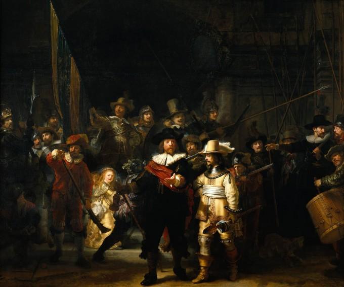 bouwpakket schilderij rembrandt Nachtwacht