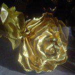 Zilver en goud papieren rozen maken
