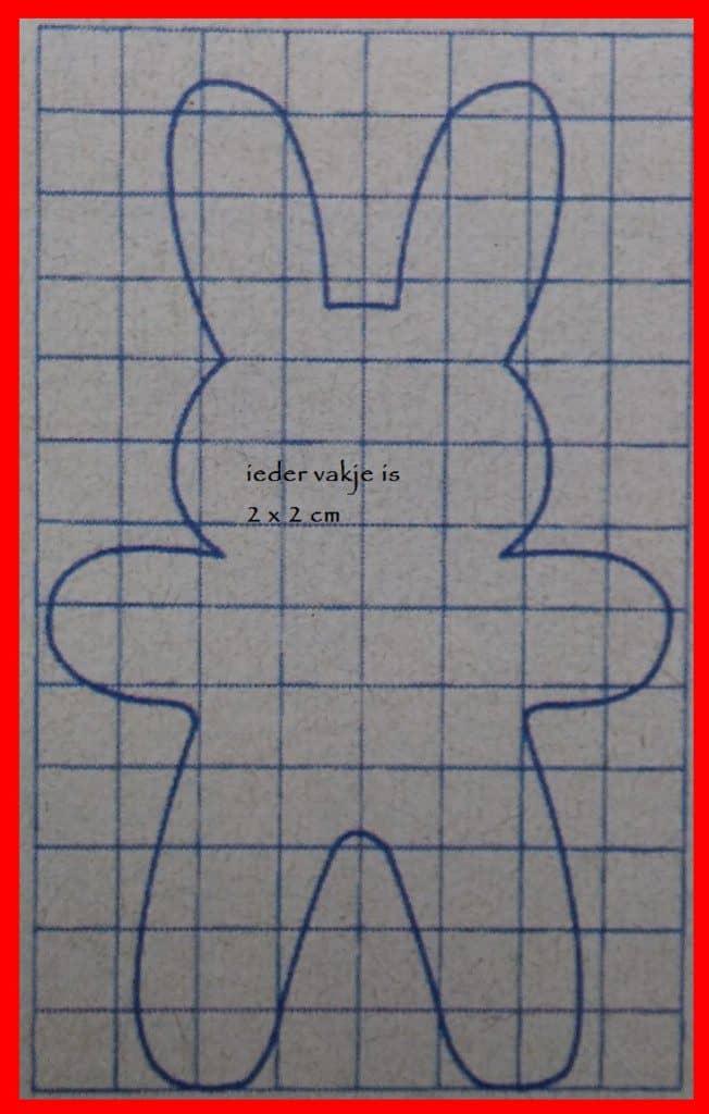 naaipatroon knuffel konijntje