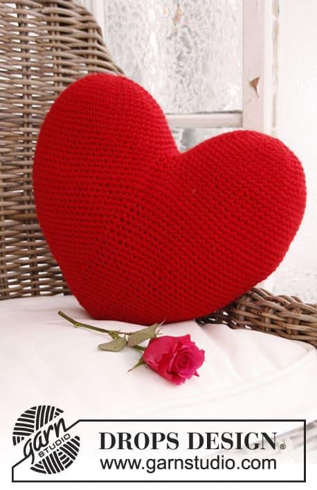 groot hart kussen haken