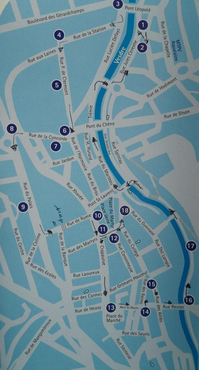 fonteinenroute Verviers Belgie