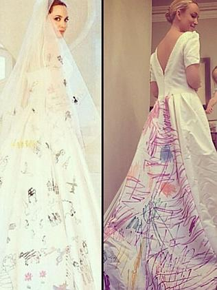 Jackie O's version of Angelina Jolie's dress. Picture: Instagram