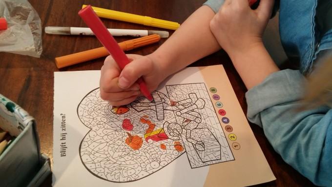 kleurplaat kleuren op nummer of symbool
