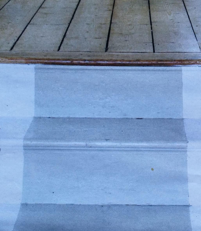 Loper op trap schilderen is upcyclen - Buitenste trap ...