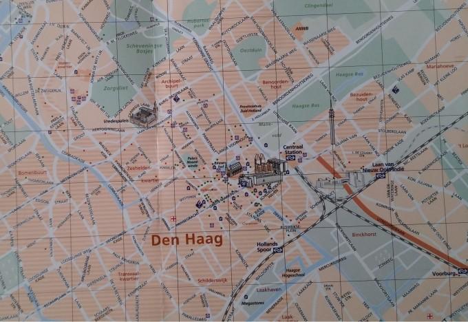 plattegrond Den Haag centrum
