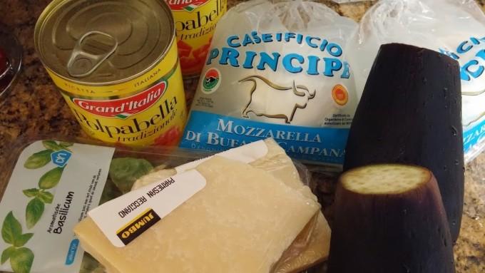 aubergine mozzarella lasagna