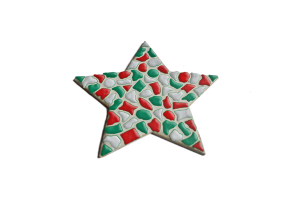 mozaieken ster kerst