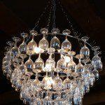 Hanglamp maken van gebruikte wijnglazen