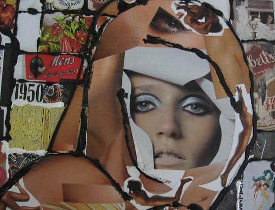 BLOTE VROUW collage 2006 impressie 1