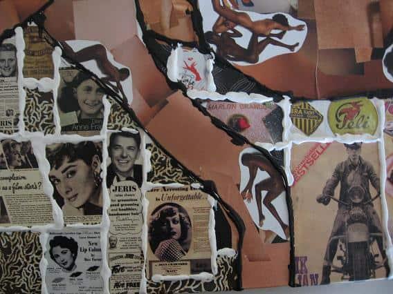 BLOTE VROUW collage 2006 impressie
