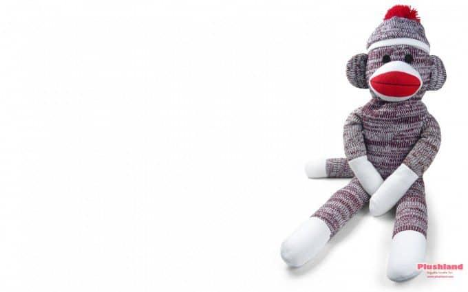 Aap maken uit sokken. Bron: findwallpaper.info