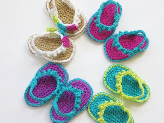 baby sandaaltjes. Bron: knitpicks.com