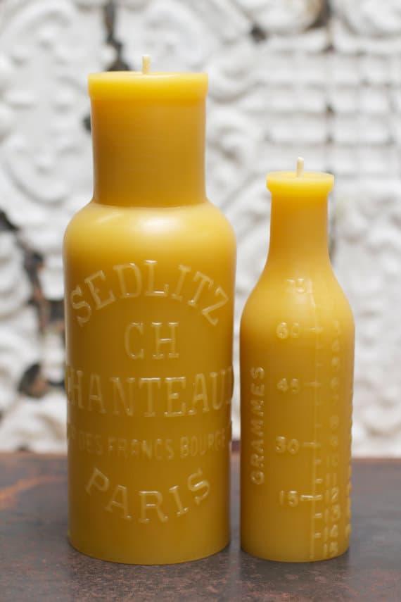 Laat je inspireren door deze mooie bijenwas kaarsflessen van tsy.com , klik hier