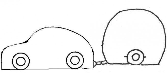 simpel patroon auto caravan baby kraam kado jongen 2