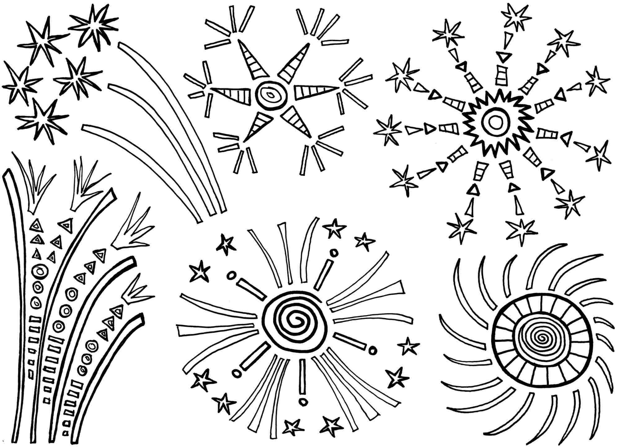kleurplaat vuurwerk hobby blogo nl